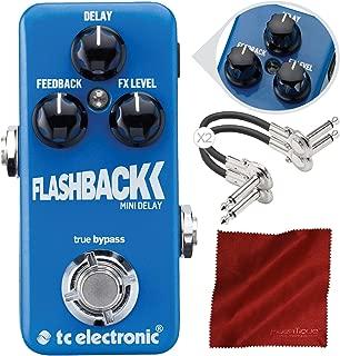 Photo Savings TC Electronic Flashback Mini Delay Mini Guitar Effects Pedal with TonePrint and Accessory Bundle