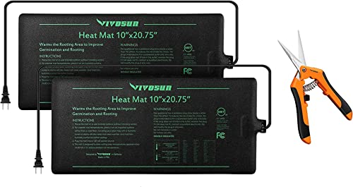 lowest VIVOSUN 2 Pack discount Durable Waterproof Seedling Heat Mat Warm Hydroponic Heating Pad 10 x 20.75 Inch, 6.5 Inch Gardening Hand Pruner lowest Orange outlet online sale