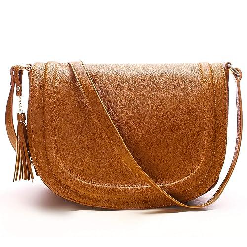 8956a7017bb1 Leather Crossbody Saddle Bag  Amazon.com