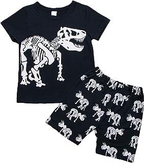 Niños Camiseta T-Shirt Shorts 2 Piezas Traje de Entrenamiento Conjunto de Ropa Deportiva Sudadera Camisa de Manga Corta Pa...
