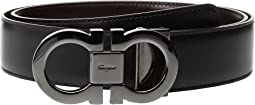 Salvatore Ferragamo - Double Gancini Adjustable and Reversible Belt - 679535