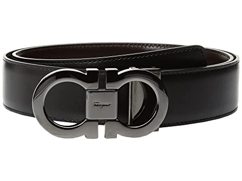 Salvatore Ferragamo Double Gancini Adjustable and Reversible Belt - 679535
