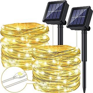 Ruyilam Solar String Lights Outdoor, 12M 120 LED Outdoor Solar Garden Fairy Lights Waterproof PVC Wire Decoration Lights f...