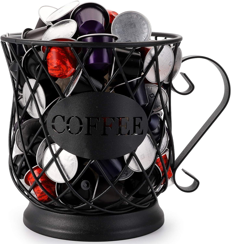 Free Shipping Cheap Bargain Gift Save money Yesland Coffee Pod Holder Black Metal Kup Mug Wire Coffe Keeper
