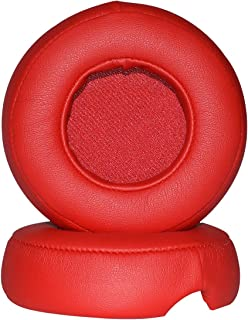 Replacement Ear Pad Cushion Cups Cover Earpads Repair Parts for Beats by Dr Dre Pro Detox (Red)