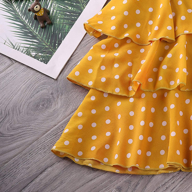 3-9 Years Toddler Kids Baby Girls Denim Jacket Polka Dot Slip Layered Dress Set Outfits Baby Boys Girls Clothing