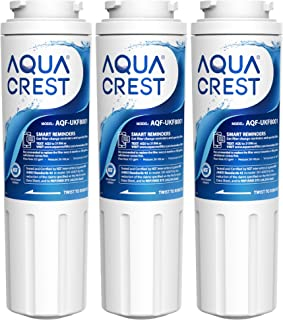 AQUACREST UKF8001 Refrigerator Water Filter, Compatible with Maytag UKF8001P, Whirlpool UKF8001AXX-750, UKF8001AXX, EDR4RXD1, 4396395, EveryDrop Filter 4, Msd2651heb(Pack of 3, Package may vary)