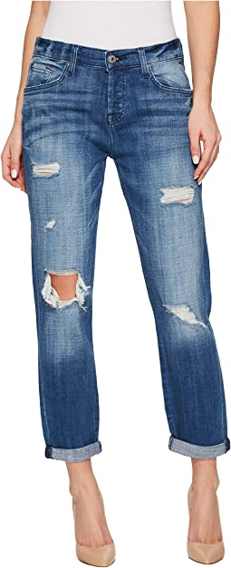 7 For All Mankind - Josefina w/ Destroy - Squiggle in Boyd Blue 2