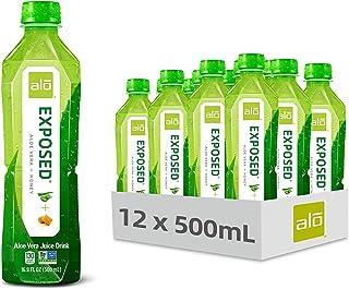 ALO Drink | ALO Exposed Aloe Vera Juice Drink | Original Flavor with Honey | 12 Pack | 16.9 FL OZ (500mL) Bottles
