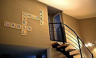 Lettres en bois façon Scrabble