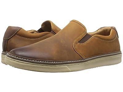 Johnston & Murphy McGuffey Casual Slip-on Sneaker (Tan Oiled Full Grain) Men