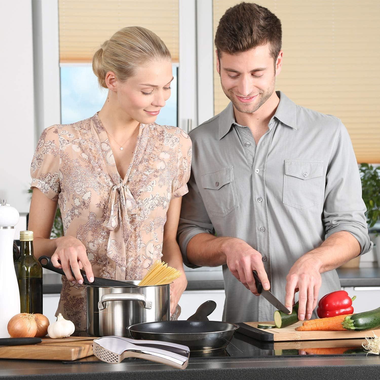 Lo Spremi Aglio /è Uno Strumento Da Cucina Indispensabile. HomeTeck Spremiaglio Lavabile In Lavastoviglie Extra Forte e Durevole Design Elegante In Lega Di Zinco