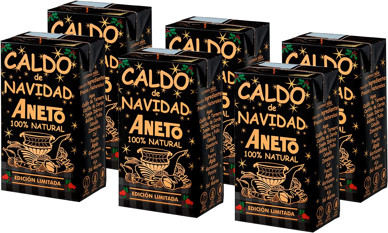 Aneto 100% Natural - Caldo de Navidad - caja de 6 unidades de 1 litro