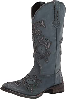 Roper Women's Belle Fashion Boot, Blue, 7 D US