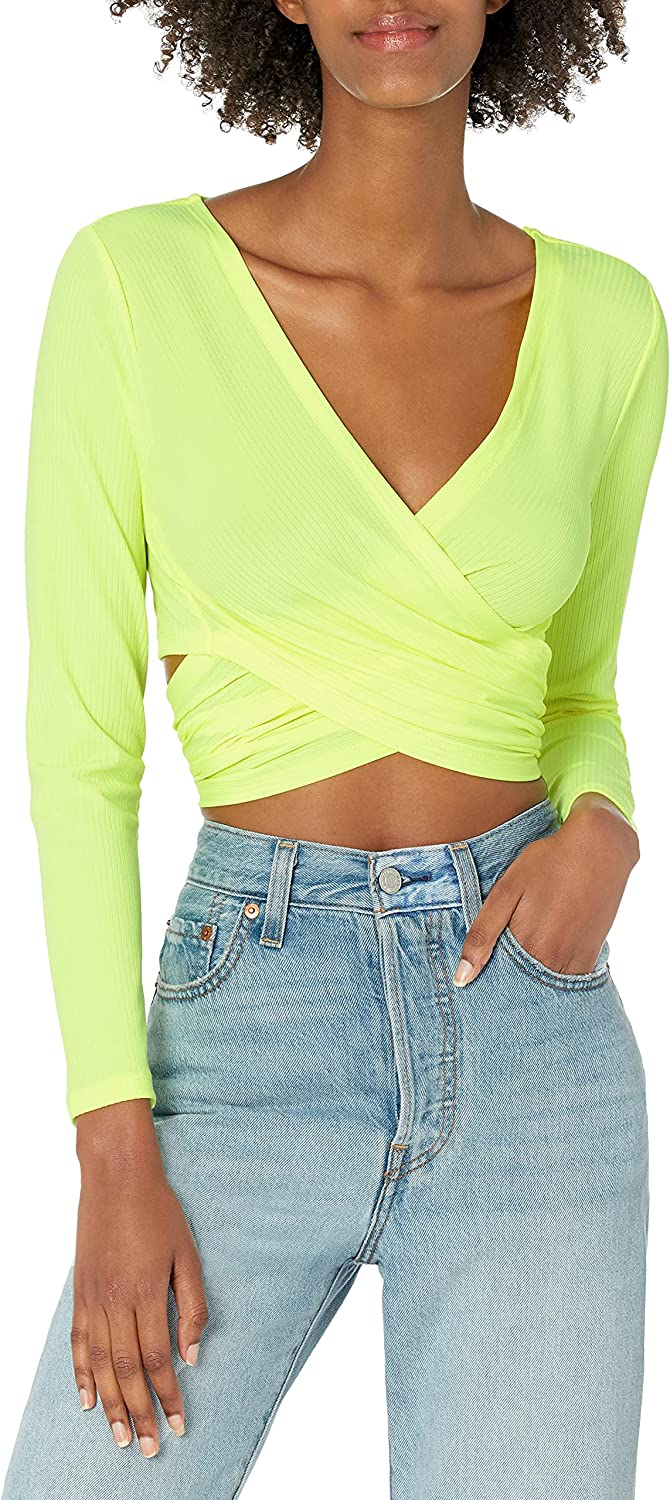 Long Beach Mall French Connection Women's Top Wrap Large discharge sale
