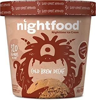 Nightfood, Sleep Expert Approved - Nighttime Ice Cream, Cold Brew Decaf, Pint (