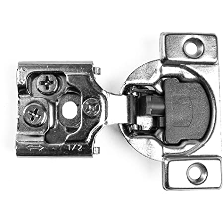 Berta (30 Pieces) 1/2 inch Overlay Face Frame Soft Closing Hinges, 105 Degree 6-Ways 3-Cam Adjustment Concealed Kitchen Cabinet Door Hinges with Screws