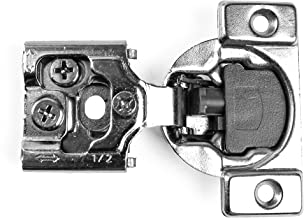 10 Pairs (20 pack) Berta Face Frame Compact Contractors Grade Hinge with Soft Close Feature, 6-ways 3-cam adjustment, 1/2 inch overlay Concealed Cabinet Door Hinges with Built-in SOFT CLOSE-105 degree
