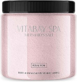 Sauna et sel de bain de différentes fragrances 1000g (Rose royale)