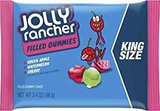 JOLLY RANCHER Filled Gummy Candy, Halloween Candy, King Size (Pack of 12)