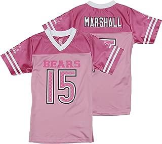 Outerstuff NFL Chicago Bears Brandon Marshall #15 Little Girls Pink Replica Jersey