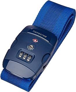 Samsonite Global Travel Accessories - Sangle pour Bagage avec Serrure TSA à Combinaison à 3 Chiffres Intégrée, 190 cm, Ble...