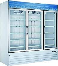 Omcan 50052 Commercial Reach In Refrigerator 78 inch 3 Door Swing Glass Cooler