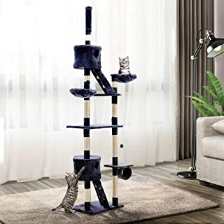 i.Pet Cat Scratching Post Cat Tree Tower Scratcher 260cm Blue