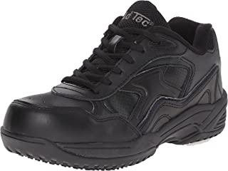 ADTEC Men's Black Lace Work Shoe - Composite Safety Toe, Slip Resistant, Breathable + Comfortable