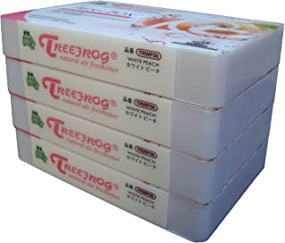 White Peach Scent 4 Pack, Ambientador Treefrog Natural Fresh Box (también conocido como Xtreme Fresh)