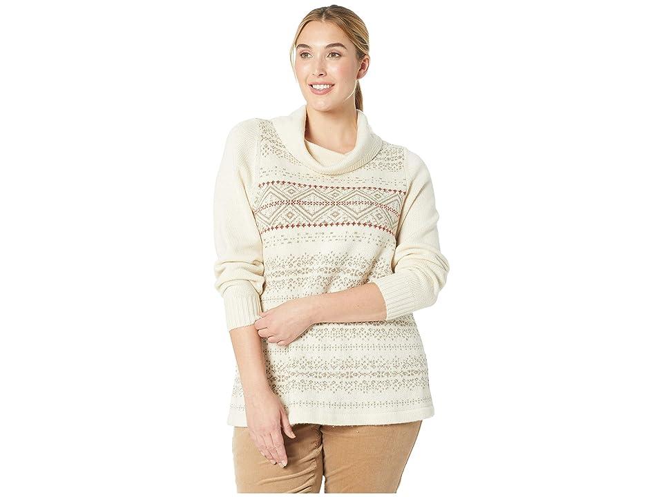 Aventura Clothing Plus Size Keelan Sweater (Heathered Silver Lining) Women