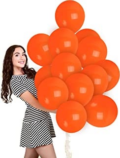Matte Orange Balloons 100 Pack - Matte Burnt Orange Balloons 12 Inch for Pumpkin Tangerine Vintage Decor Baby Shower Gradu...
