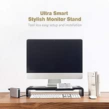 Mediasonic Adjustable Computer Monitor Stand with USB Hub/Desk Organizer/Hard Drive Docking Station (H06-BK)
