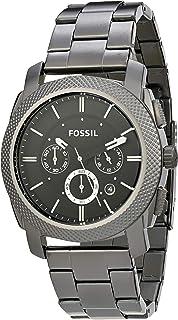 Relógio Fossil, Pulseira de Aço Inoxidável, Masculino Preto FS4662/1PN