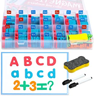 Magnetic Letters and Numbers for Kids 242 Pcs, Foam Alphabet and Full Magnet Backing