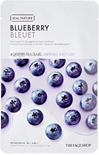 The Face Shop Real Nature Blueberry Face Mask Sheet, 20 g