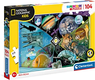 Clementoni National Geographic 25715, National Geographic Explorers in Training Supercolor Puzzle for Children - 104 Piece...