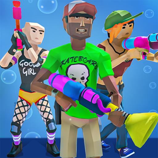 fête de piscine épique avec pistolet à eau -...