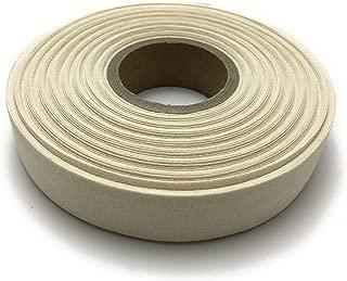 80s Combed Organic Cotton Ribbon, Double Herringbone, Raw White, 3/4 inch x 27.4 yd(20mm x 25m)