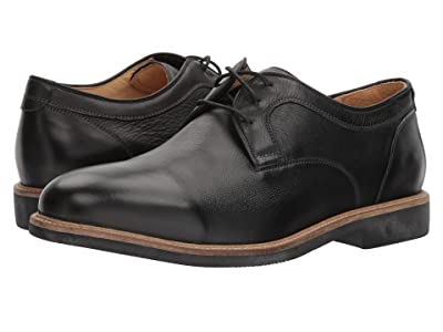 Johnston & Murphy Barlow Casual Dress Plain Toe Oxford (Black Soft Full Grain) Men