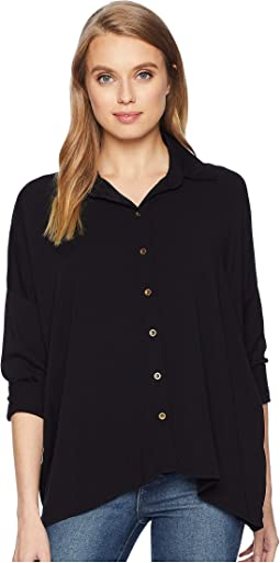 Rylie Rayon Boxy Button Up Shirt