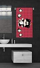 Sassoon 100% Cotton 300 GSM Kids Cartoon Bath Towel for Bathroom Set of 1pc, Multicolor, 50 cm x 85 cm - Color - Red
