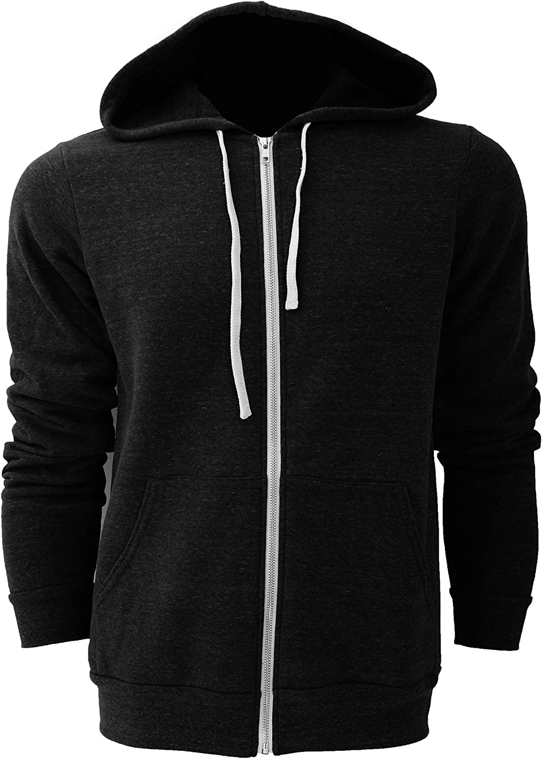 Bella Canvas Canvas Full Zip Hoodie Mens Sweatshirts & Hoodies