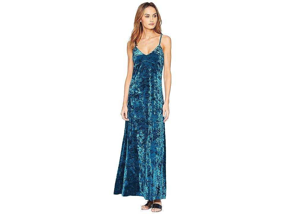 MICHAEL Michael Kors Crush Velvet Tank Maxi Dress (Luxe Teal) Women