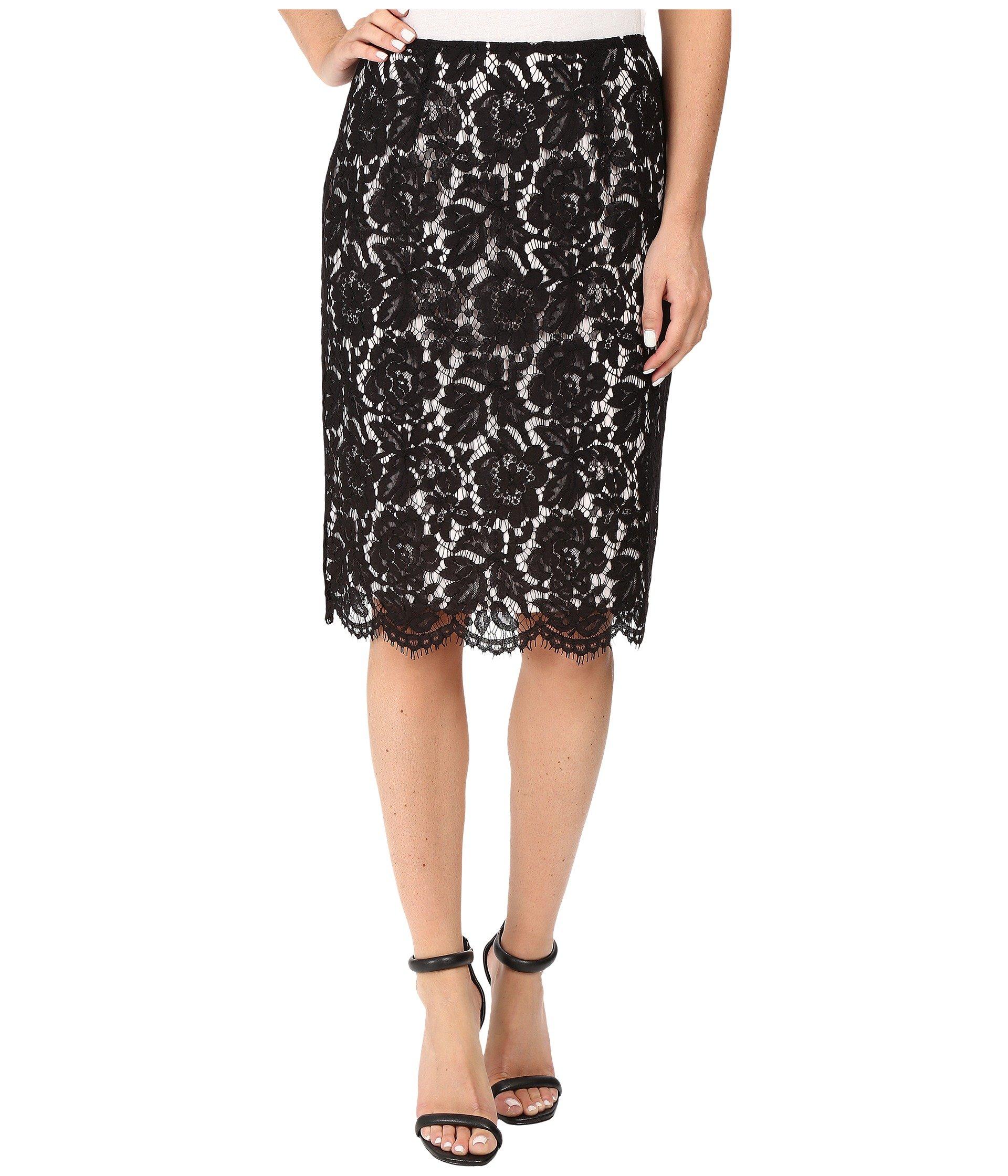 Falda para Mujer Vince Camuto Scallop Lace Pencil Skirt  + Vince Camuto en VeoyCompro.net