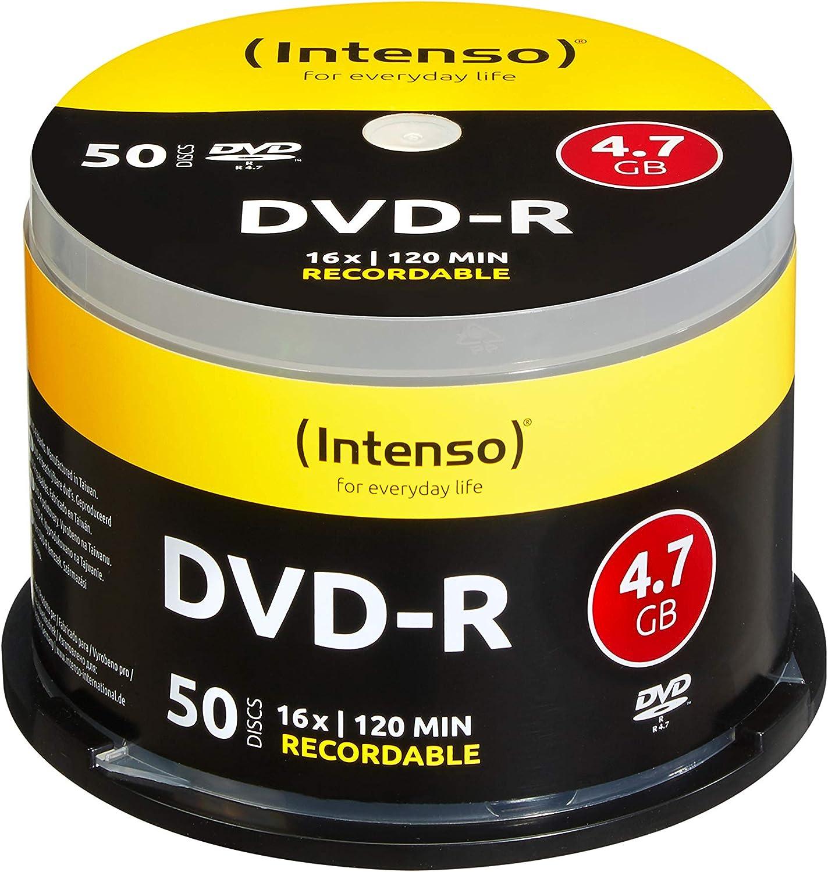 Intenso Dvd R 16x Speed 50er Spindel Dvd Rohlinge Computer Zubehör