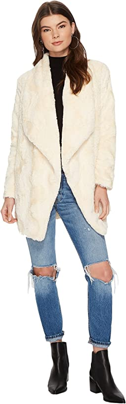 Jack by BB Dakota - Haddie Faux Fur Drape Front Coat