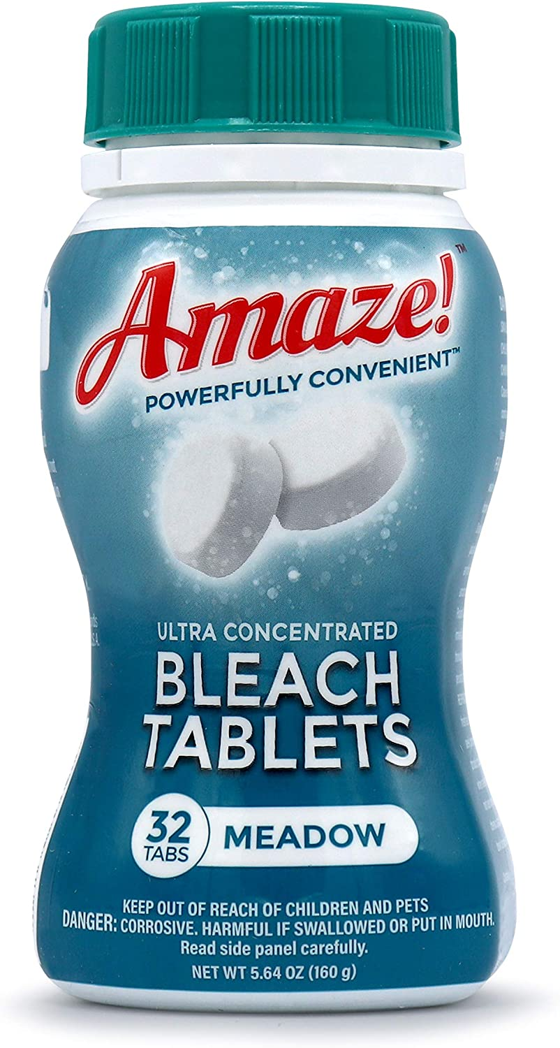 AMAZE Ultra Ranking TOP4 Concentrated Bleach Tablets security Home Laundry for and Cl
