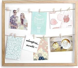 Umbra 310080-390Marco Vertical con 12pequeñas Pinzas para Fotos o Notas, Color Natural