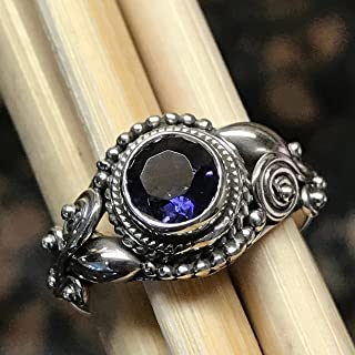 Genuine 1ct Iolite 925 Solid Sterling Silver Engagement Ring Size 6.25, 6.75, 7.75, 8.25, 9, 9.5,